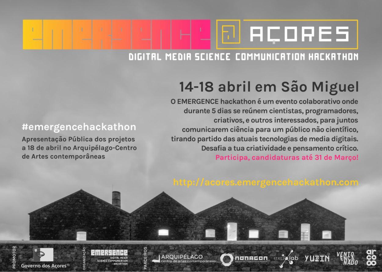 EMERGENCE@Açores – Ciência e Criatividade no Arquipélago – Centro de Artes Contemporâneas, em abril