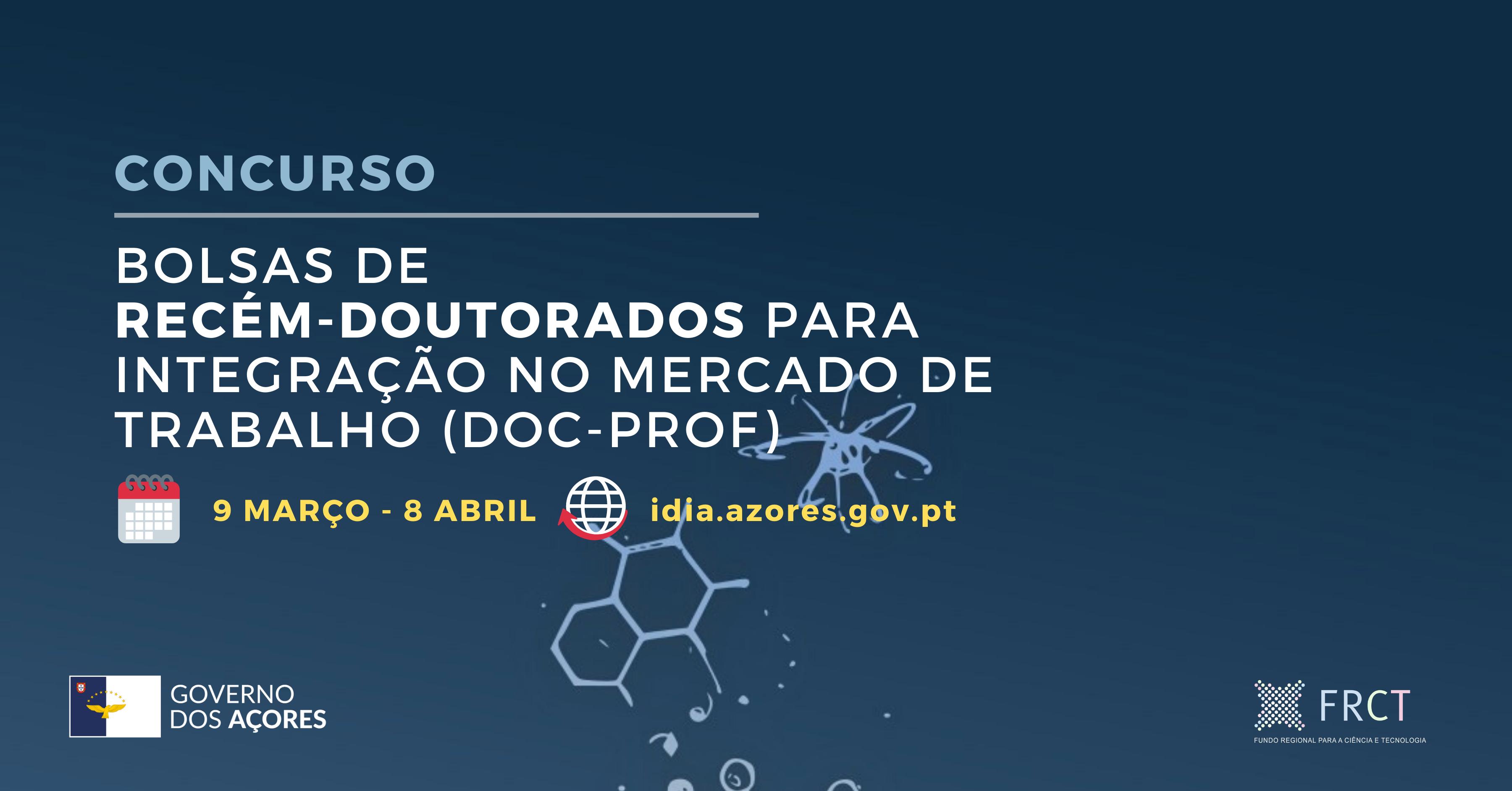 (AVISOS) Concurso para integração de recém-doutorados no mercado de trabalho – DOC-PROF