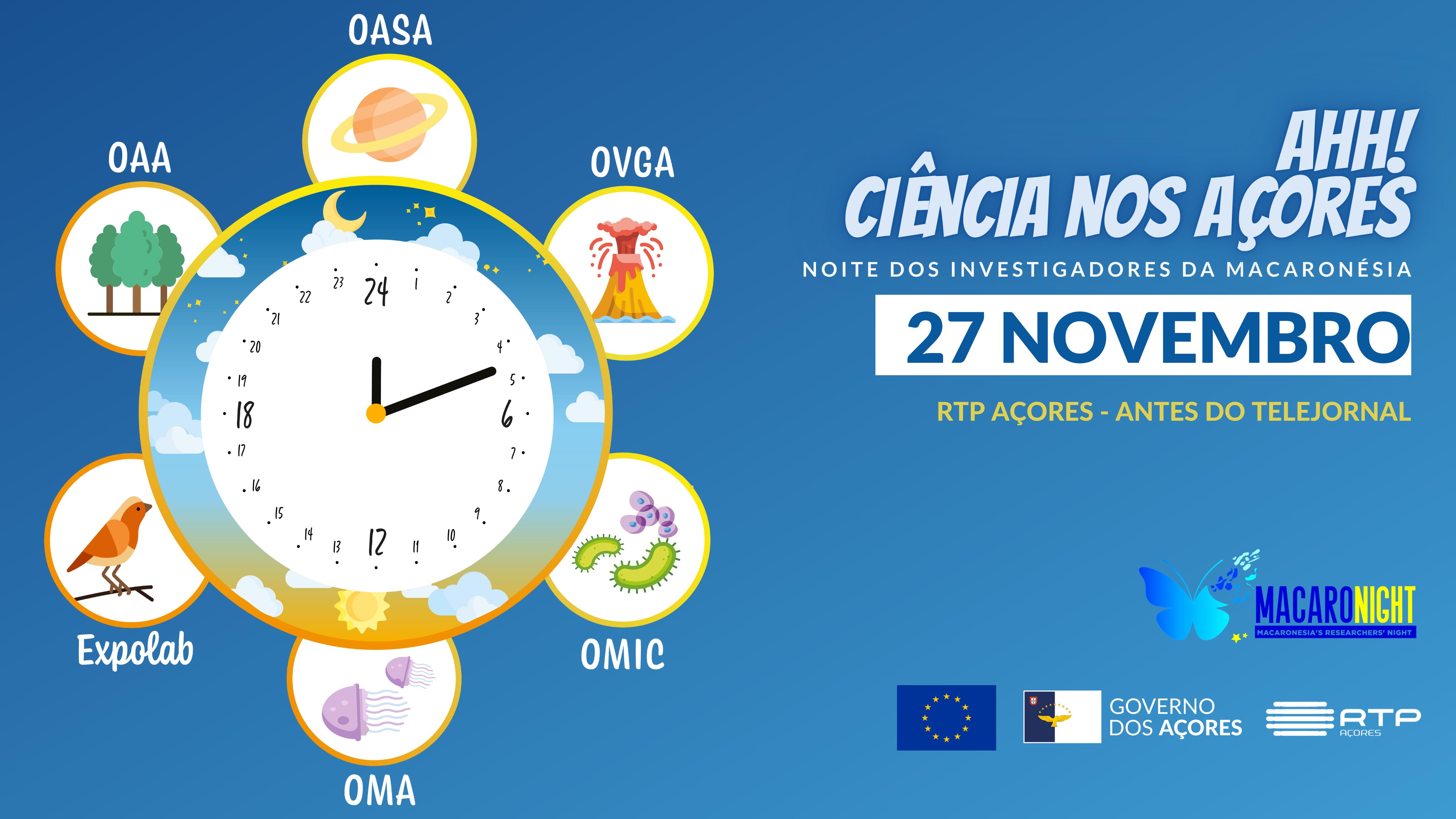 """""""Ahh! Ciência nos Açores"""" – minissérie a partir de 27 de novembro na RTP Açores"""