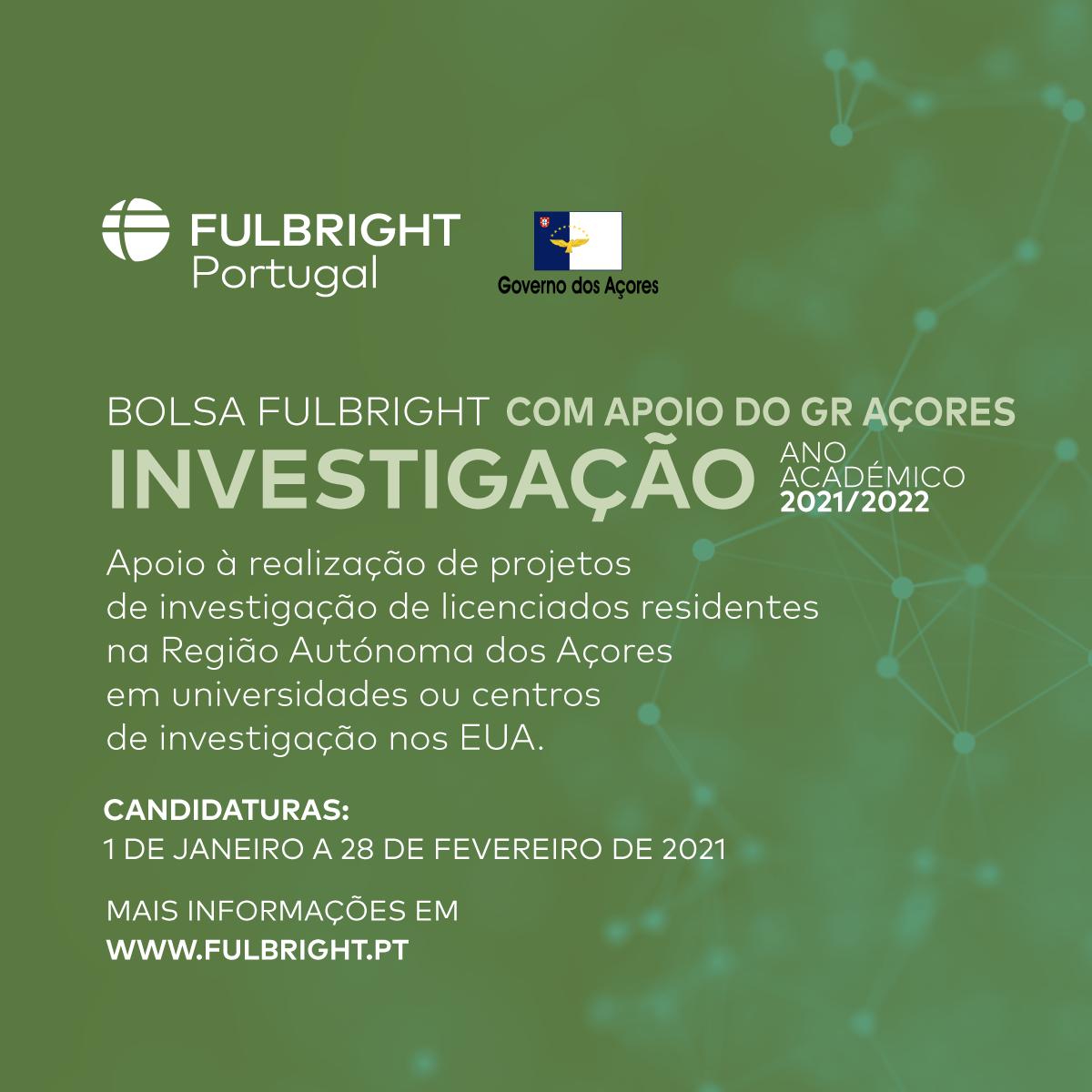 Governo Regional promove nova edição de Bolsas Fulbright para Investigação