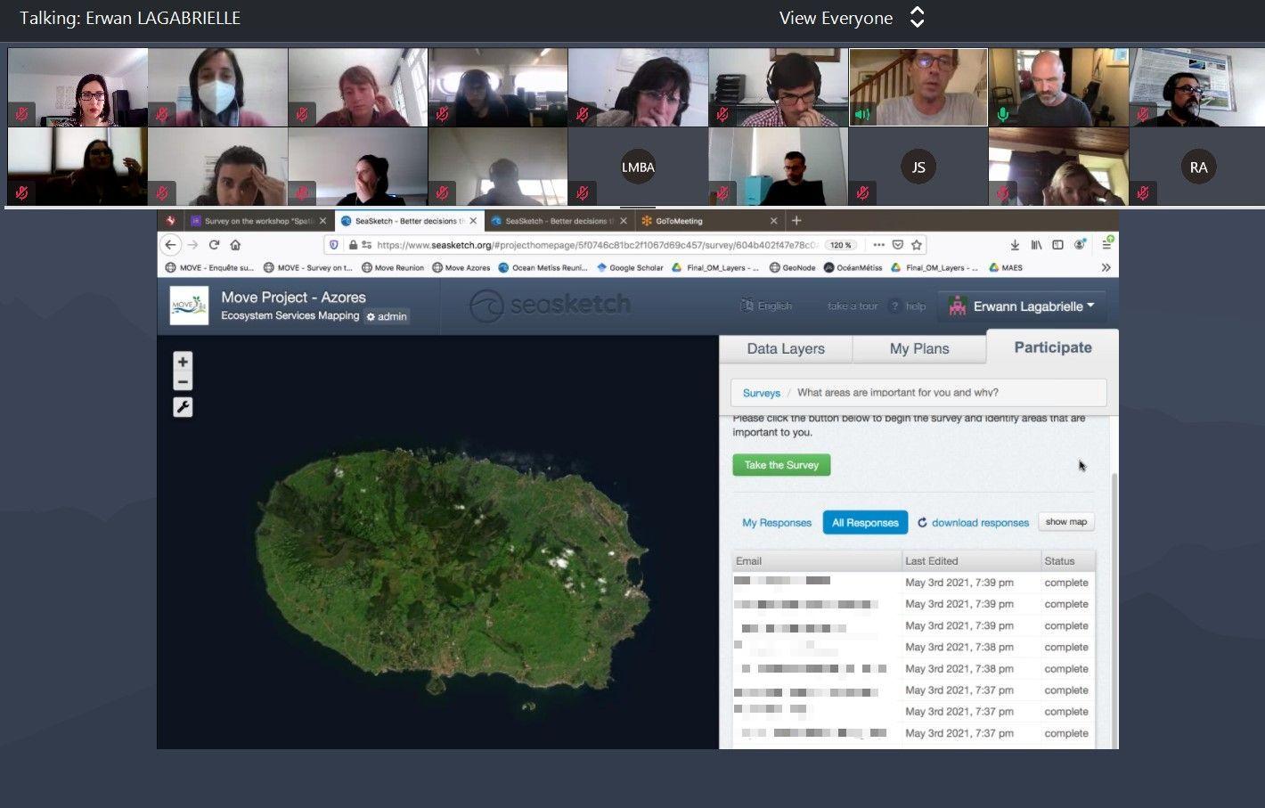 """Workshop """"Ferramentas de apoio à decisão – o SeaSketch como suporte ao Ordenamento do Território focado nos Serviços dos Ecossistemas"""""""